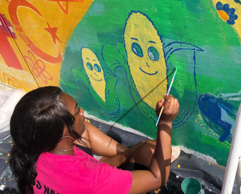 Illinois Art Station 2019 Youth Mural Project Painting Day