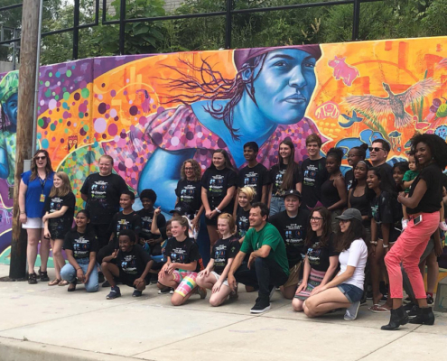 Illinois Art Station 2019 Youth Mural Project Final Reveal Day