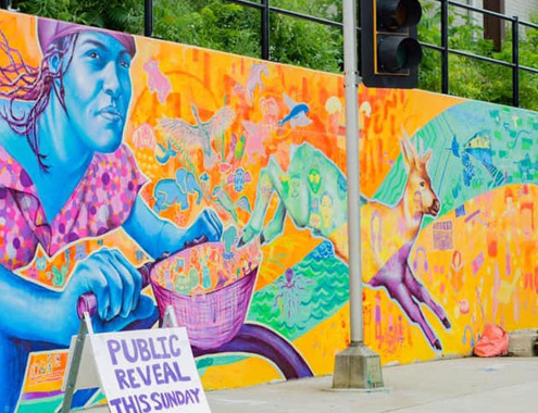Illinois Art Station Youth Mural Project Completed