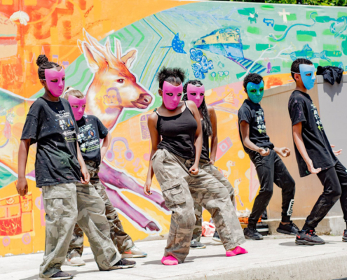 Illinois Art Station 2019 Youth Mural Project Public Reveal Day Performances
