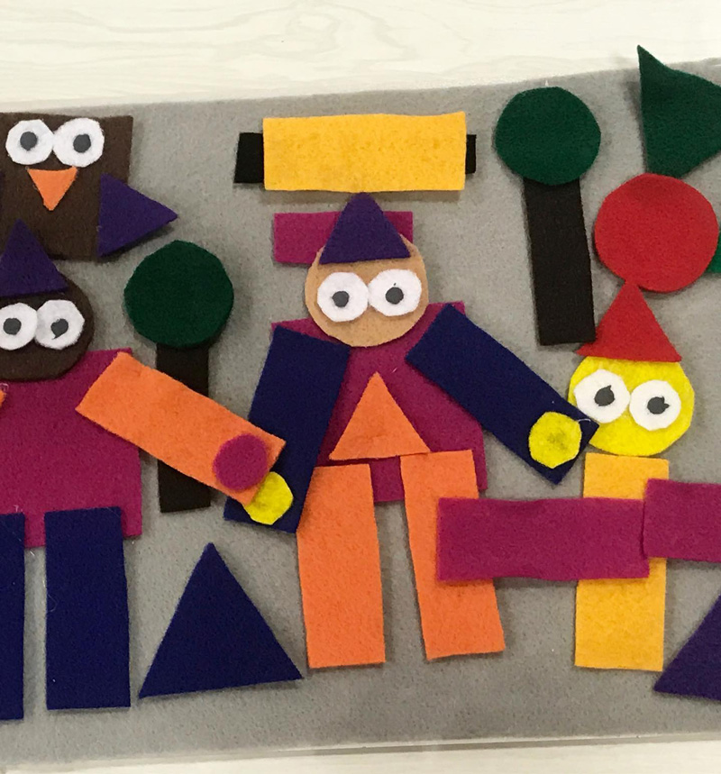 Illinois Art Station Felt Puppets and Landscapes