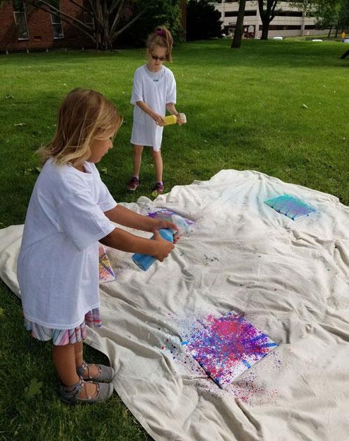 Illinois Art Station outdoor art activity