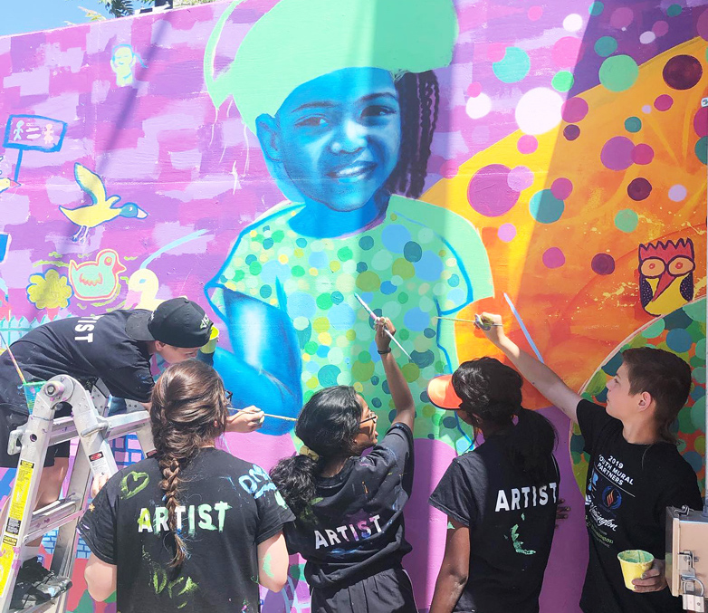 Illinois Art Station youth mural project in Bloomington Normal