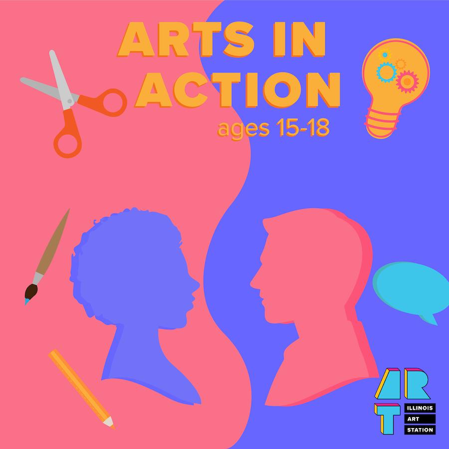 Illinois Art Station - Arts in Action Logo