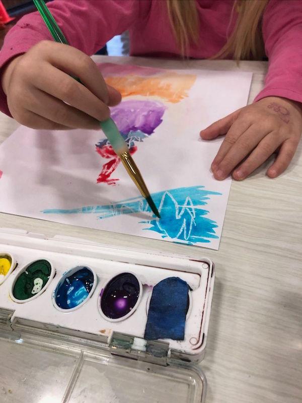 Illinois Art Statin Child Making Art close up